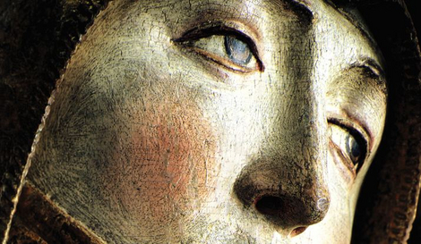 Trauernde Maria aus Acholshausen Detail