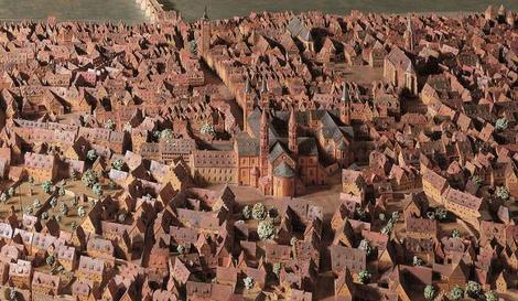 Stadtmodell Würzburg um 1525 Detail