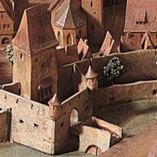 "Modell ""Würzburg um 1525"" Detail"