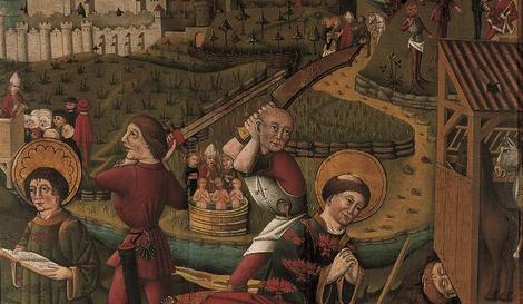Martyrium des Heiligen Kilian und seiner Gefährten Ausschnitt